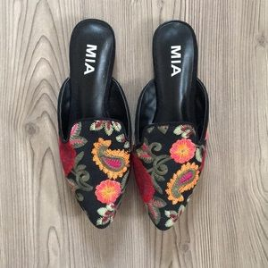 Brand New MIA Embroidered Mules